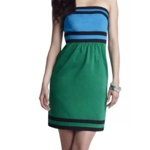 The Limited colorblock strapless dress!